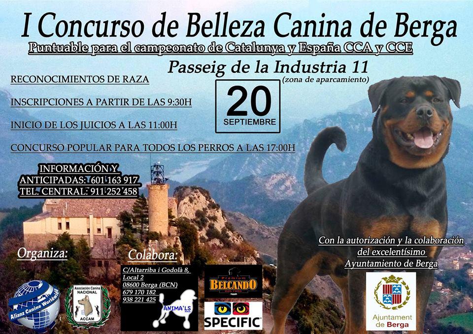 CONCURSO DE BELLEZA CANINA DE BERGA 2015